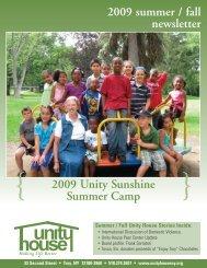 2009 Unity Sunshine Summer Camp 2009 summer ... - Unity House