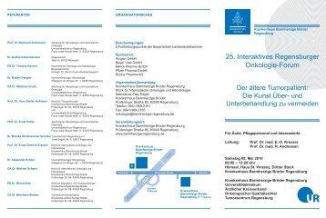 25. Interaktives Regensburger Onkologie-Forum - Tumorzentrum ...