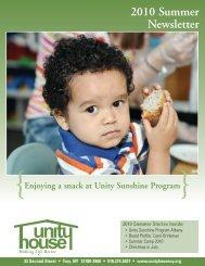 2010 Summer Newsletter - Unity House