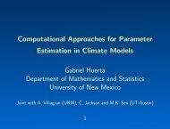 Computational Methods for Parameter Estimation in Climate Models
