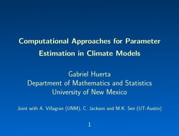 Computational Methods for Parameter Estimation in Climate Models