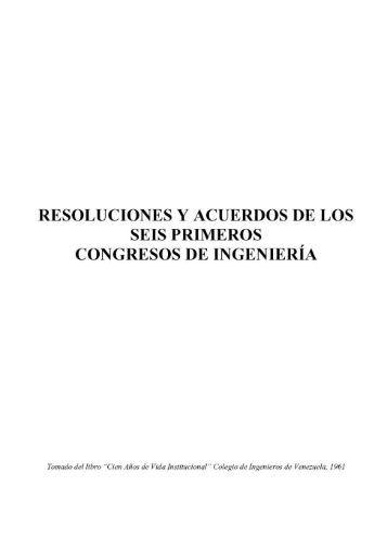 RESOLUCIONES Y ACUERDOS DE LOS SEIS PRIMEROS ...