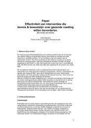 Paper Effectiviteit van interventies die kennis & bewustzijn over ...