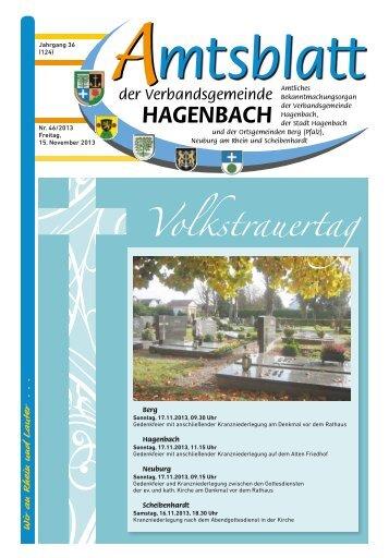 46/2013 - Verbandsgemeinde Hagenbach