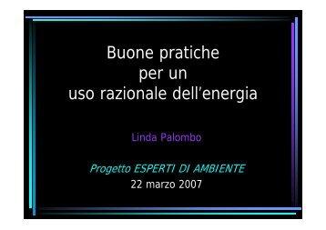 Buone pratiche per un uso razionale dell'energia - Comune di ...