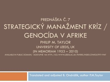 Crisis Management and the Media - branoondrasik.sk