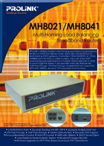 PROLINK MH8021 MULTI-HOMING ROUTER DRIVERS FOR WINDOWS XP
