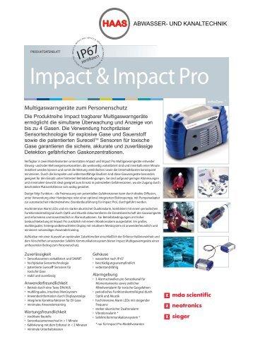 impact&impactPro - Haas Abwassertechnik und Kanaltechnik