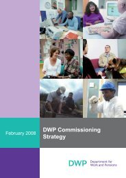 The DWP Commissioning Strategy – a code of conduct - Employers
