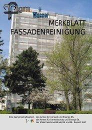 MERKBLATT FASSADENREINIGUNG - Amt für Umwelt und Energie