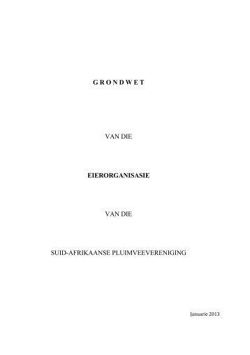 grondwet van die eierorganisasie van die suid-afrikaanse ...