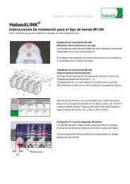 Instrucciones de instalación para el tipo de banda M1185 - Habasit
