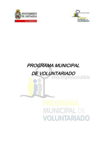 programa municipal de voluntariado - Ayuntamiento de Cartagena