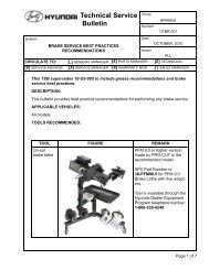 Technical Service Bulletin - Pro-Cut USA On-Car Brake Lathes