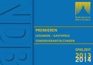 Spielzeitheft 2013/2014 - Niederdeutsche Buehne Flensburg