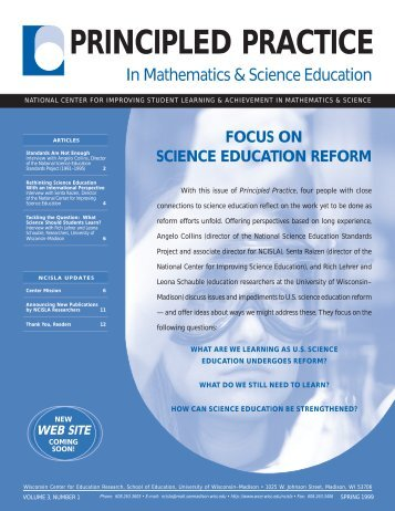 Science Education Reform - National Center for Improving Student ...
