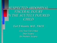 SUSPECTED ABDOMINAL VISCERAL INJURY IN THE ACUTELY ...