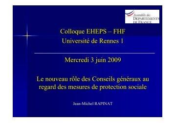 Téléchargez sa présentation - EHESP
