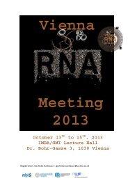 Vienna RNA Meeting 2013 - Termine-meduniwien.at