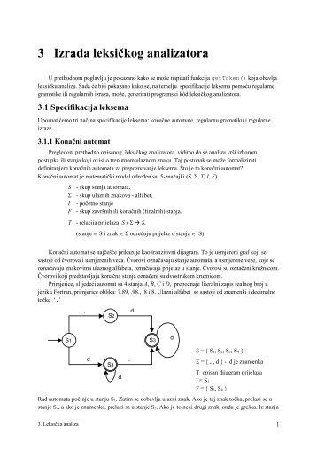 3 Izrada leksičkog analizatora - FESB