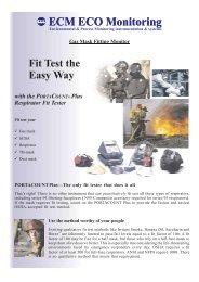 Gas Mask Fitting Monitor - ECM ECO Monitoring