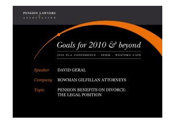 THE LEGAL POSITION