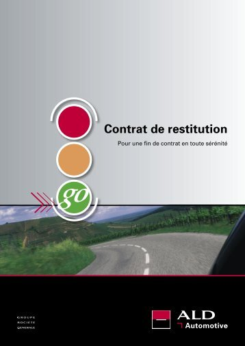 Contrat de restitution - ALD Automotive