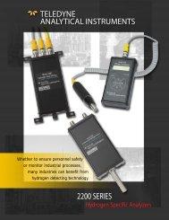 Hydrogen Transmitters - Teledyne Analytical Instruments