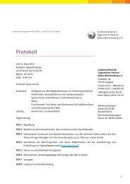 Protokoll - Landesverband der Tagesmütter-Vereine Baden ...