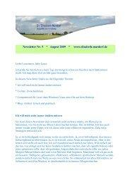 öffnet sich der Newsletter August 2009 - Dr. Elisabeth Mardorf