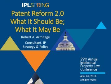 Patent Reform 2.0 What It Should Be, What It May Be