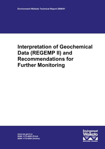 Interpretation of Geochemical Data - Waikato Regional Council