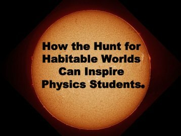Hunting Habitables - Better Physics