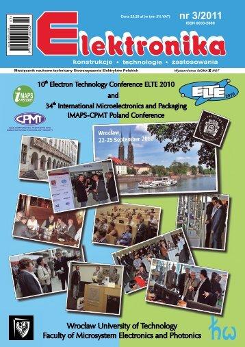Elektronika 2011-03 I.pdf - Instytut Systemów Elektronicznych ...