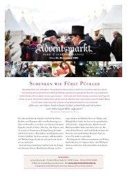 Schenken wie Fürst Pückler - Weihnachtsmarkt.info