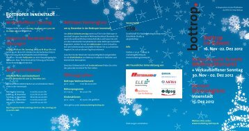Weihnachtsprogramm 2012 - Bottrop