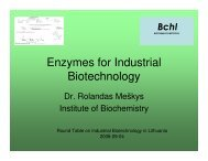 Enzymes for industrial biotechnology - Rolandas ... - Bio-Economy