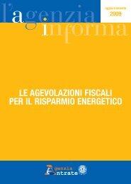 le agevolazioni fiscali per il risparmio energetico - Comune di ...