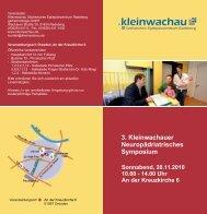 3. Kleinwachauer Neuropädriatrisches Symposium