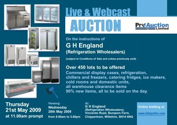 GH England stock auction catalogue