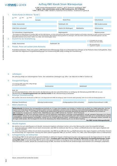 Auftragsformular (gültig ab 01.01.2013) inkl. Preise und AGB