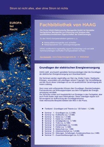 Seminar 3 - Kabel (ca. 3,4 MB) - HAAG Elektronische Messgeräte ...