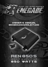 Bedienungsanleitung/Owner's Manual - Audio Design GmbH