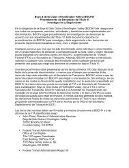 Boys & Girls Clubs of Huntington Valley (BGCHV) Procedimiento de ...