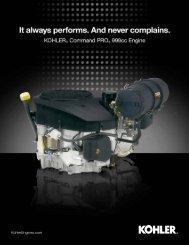 Kohler Command PRO 999 Sell Sheet - Kohler Engines