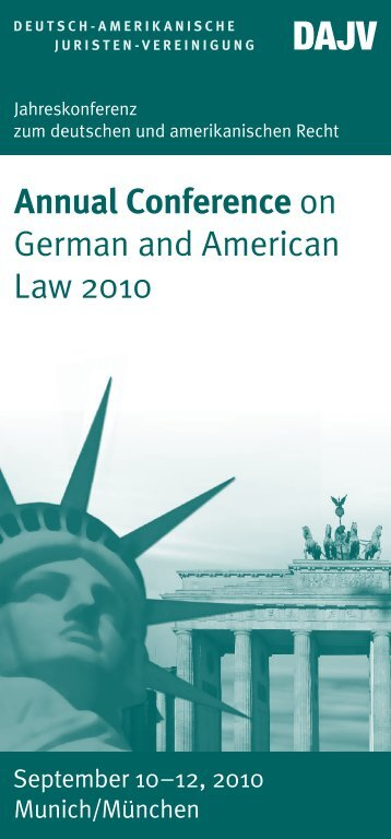 Annual Conference on German and American Law 2010