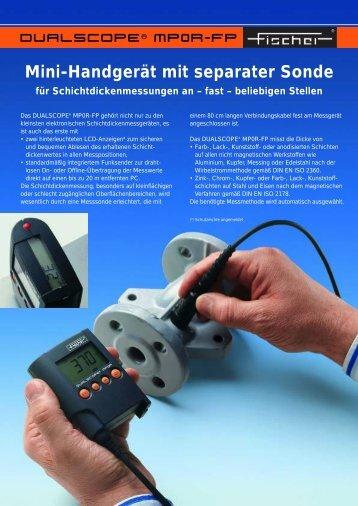 Mini-Handgerät mit separater Sonde für ... - Fischer Technology, Inc.