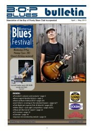April - May 2013 - BOP Blues Club