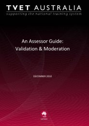 Assessor Guide - Validation and Moderation - National Skills ...