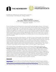 Project Description - Newberry Library